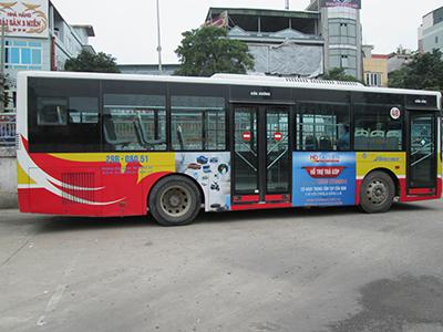 Quảng cáo xe bus Hà Nội 2